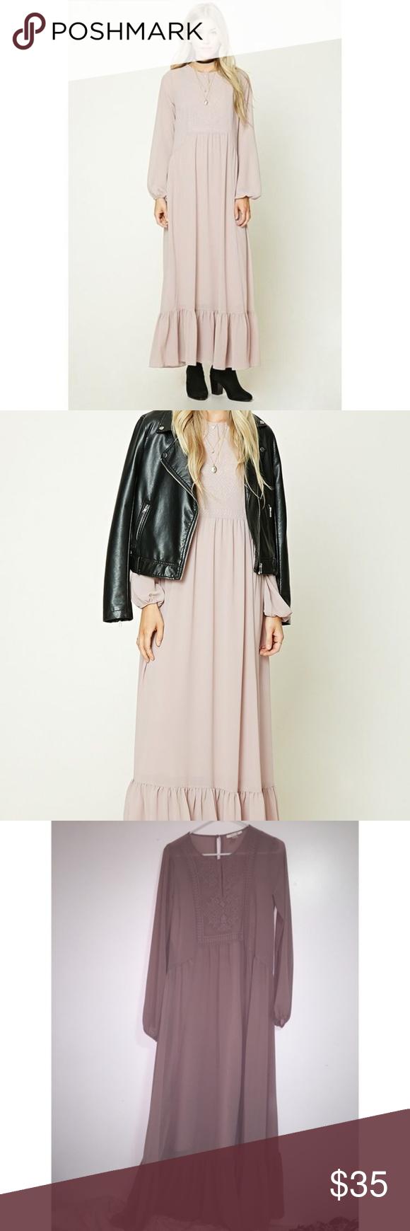 New forever long sleeve peasant maxi dress my posh picks
