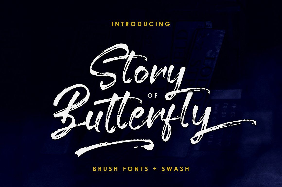 Story Of Butterfly Swash Brush Font New Fonts Lettering