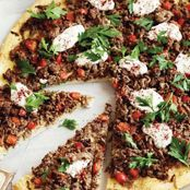 spicy middle eastern pizza