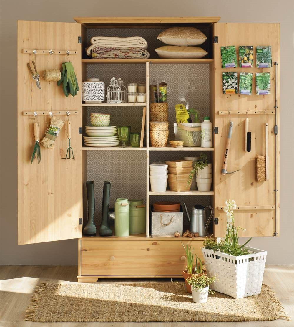 Mueble de jard n trasero armario para guardar los objetos - Armarios para terrazas ...