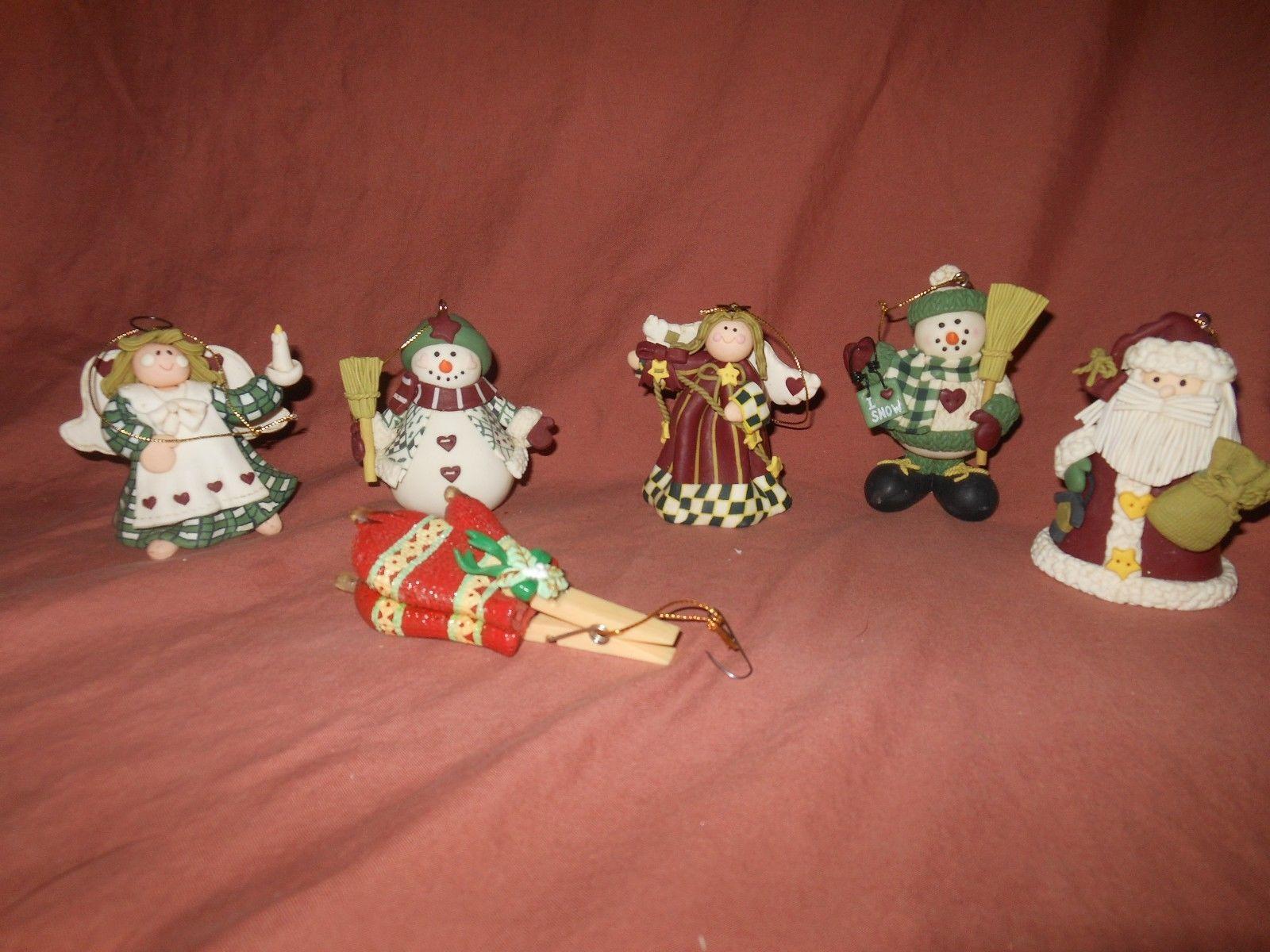 6   Christmas Tree Ornaments -Resin Santa Angel Snowman Mittens https://t.co/0tKDmsX9tB https://t.co/98it3BGPcC