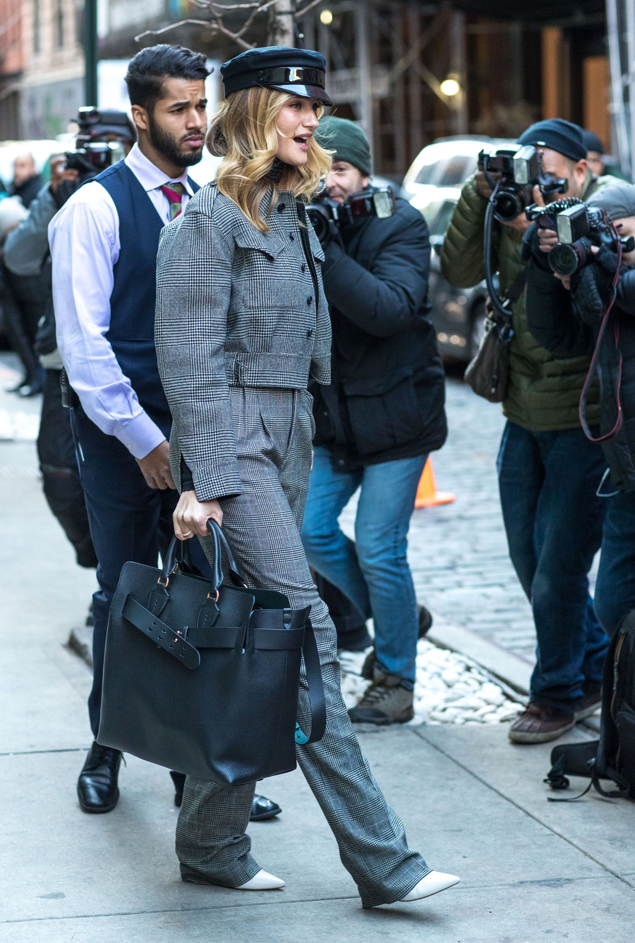 fff299e8100ef RosieHuntingtonWhiteley pictured in New York carrying  TheBeltBag ...
