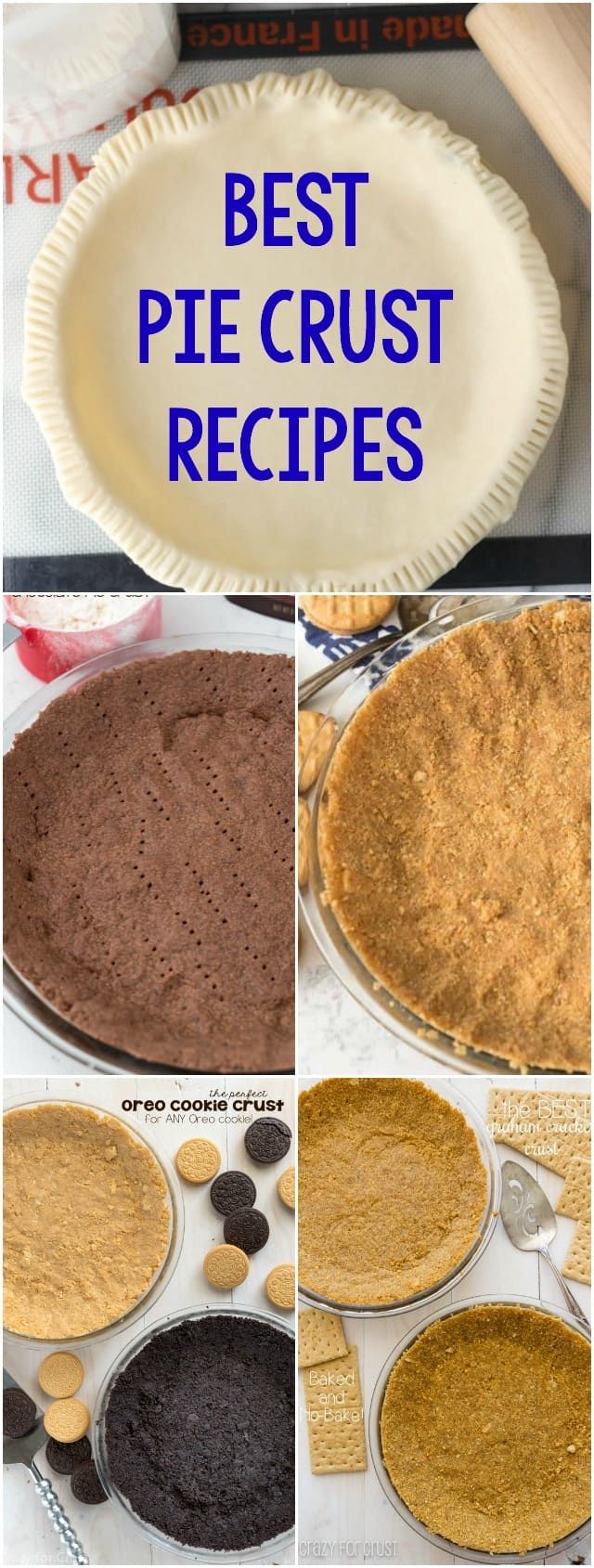 Pie Crust Recipes | Pie crust recipes, Cookie crust and Crusts