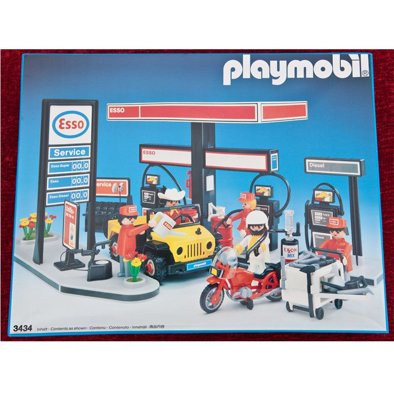 1980s playmobil esso garage set 3434 boxed and sealed for Garage ad le pin