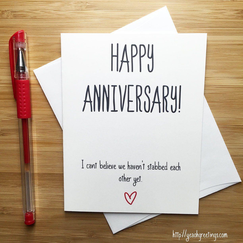 Anniversary Card Love Card Happy Anniversary Funny Etsy Anniversary Cards For Wife Funny Anniversary Cards Anniversary Funny