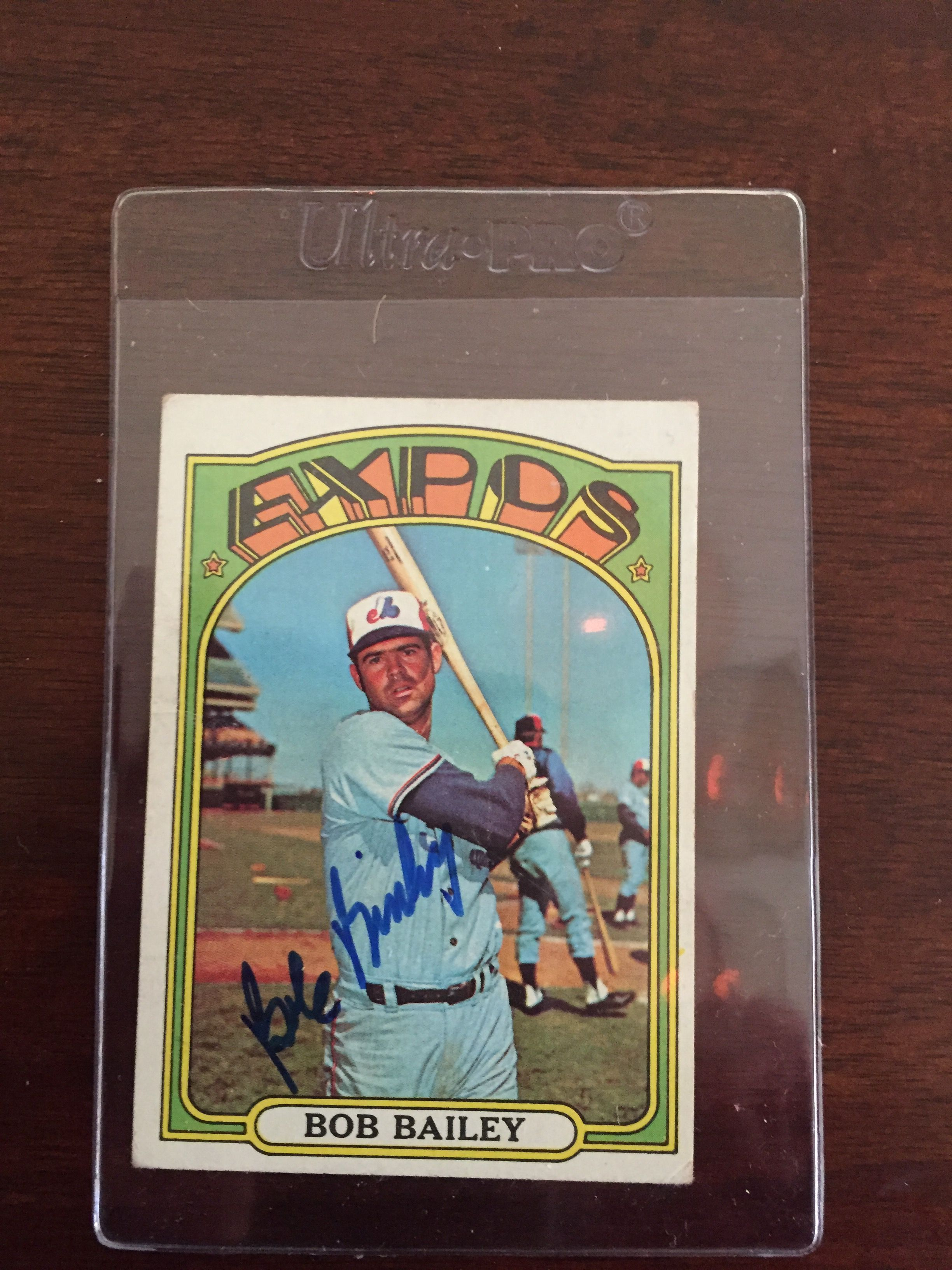 autograph through the mail today bob bailey all star 3b baseball
