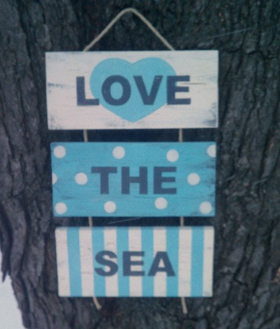 Beach Sign Decor Inspiration Beach Sign Love The Sea Beach House Decor Coastal Decor Nautical Decorating Inspiration