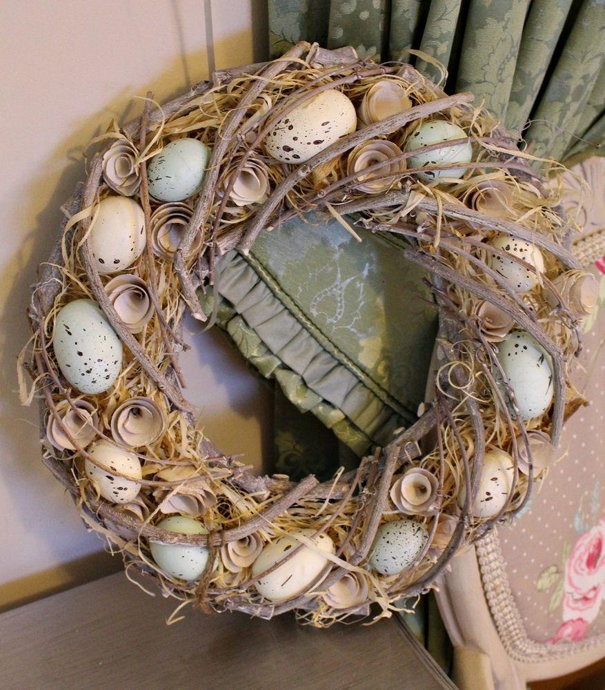Large EDEN Duck Egg Bird Nest Birds Door Wall Easter