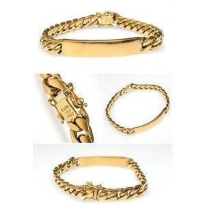 4974cb8df03a6 Vintage Tiffany Co. Mens ID Bracelet Solid 18K Gold EraGem | Jewelry ...