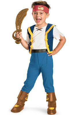 Brand New Pirates Captain Jake Deluxe Toddler Costume