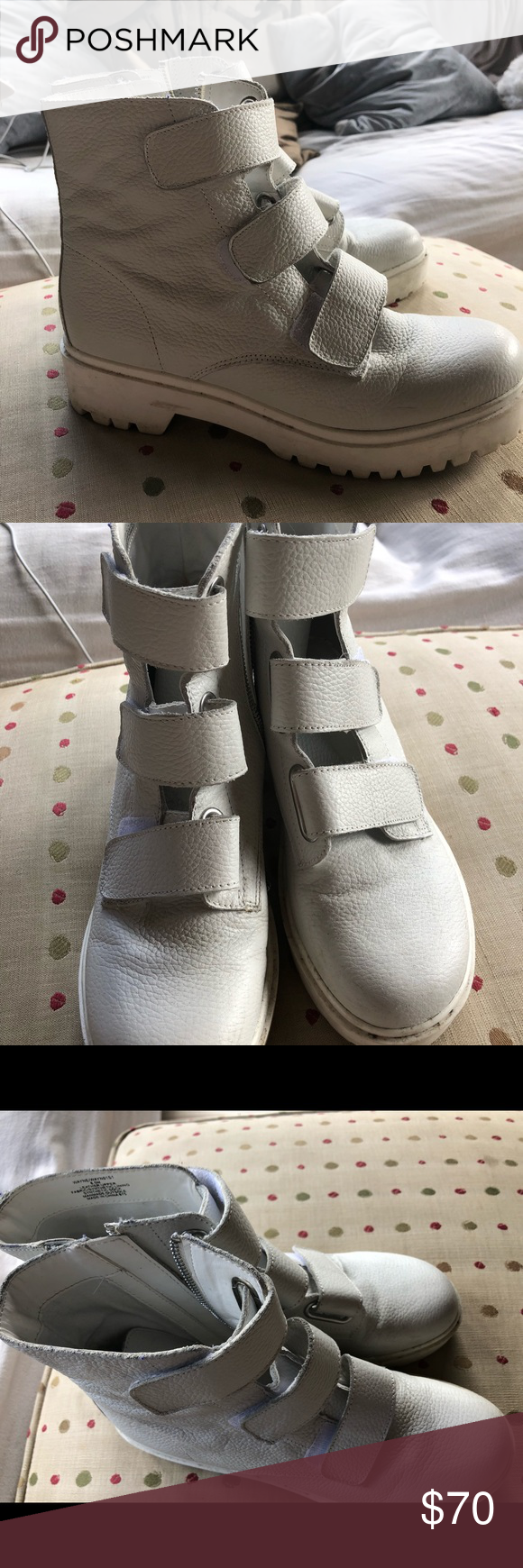0693e6faf20 Steve Madden Wayne Boots White pleather boots Great for winter ...