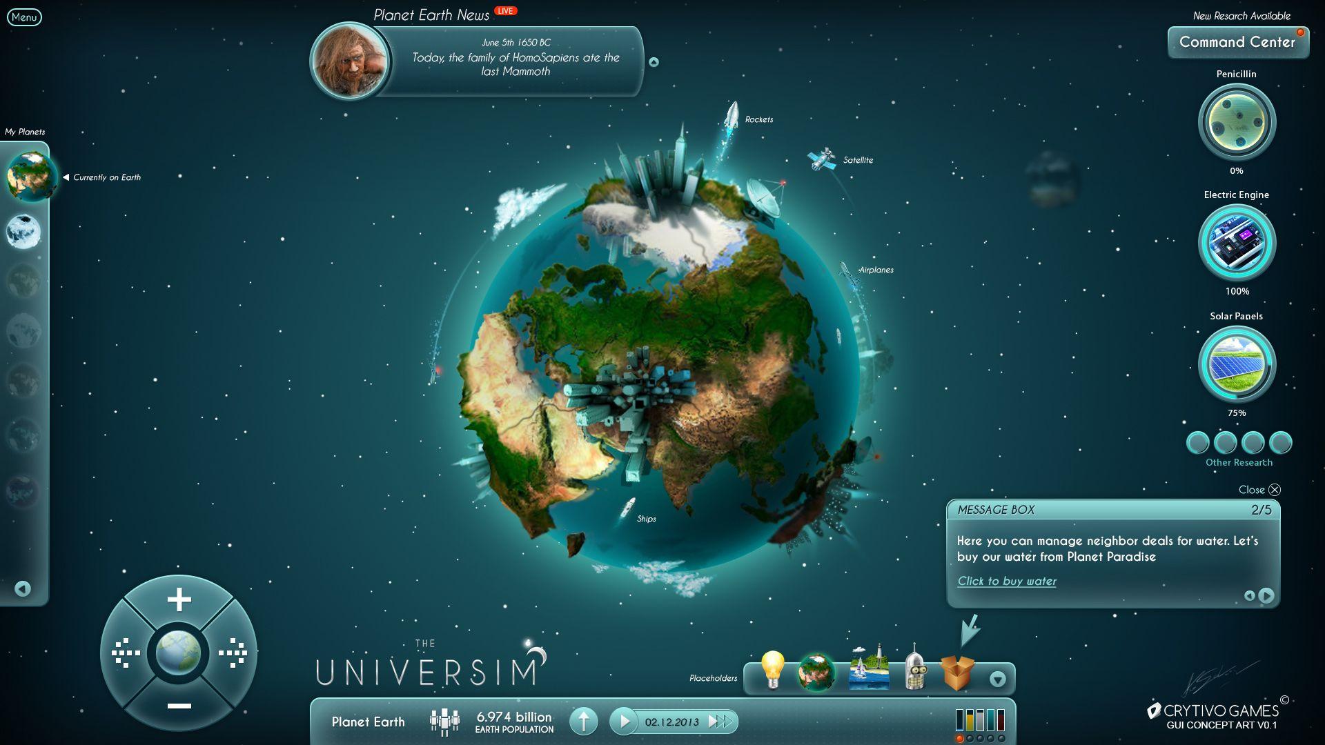 The Universim Game UI Concept By Koshelkovdeviantartcom On - Game ui design