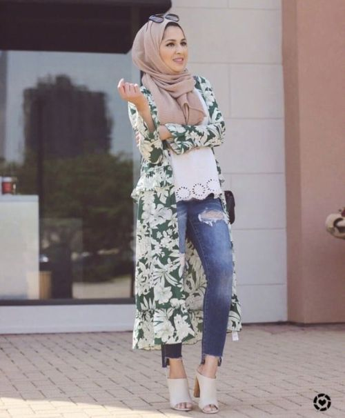 f443d63eae36 floral kimono-Hijab style summer 2018 – Just Trendy Girls