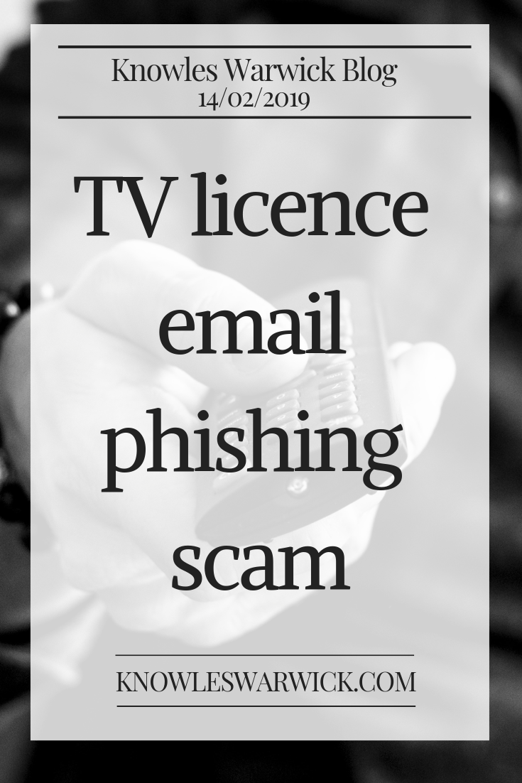 Have you received an unexpected email from TV Licensing