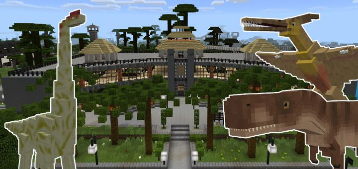 This map lets you explore jurassic world in minecraft pocket edition this map lets you explore jurassic world in minecraft pocket edition at the same time it is an incredibly detailed map its also amazingly huge gumiabroncs Images