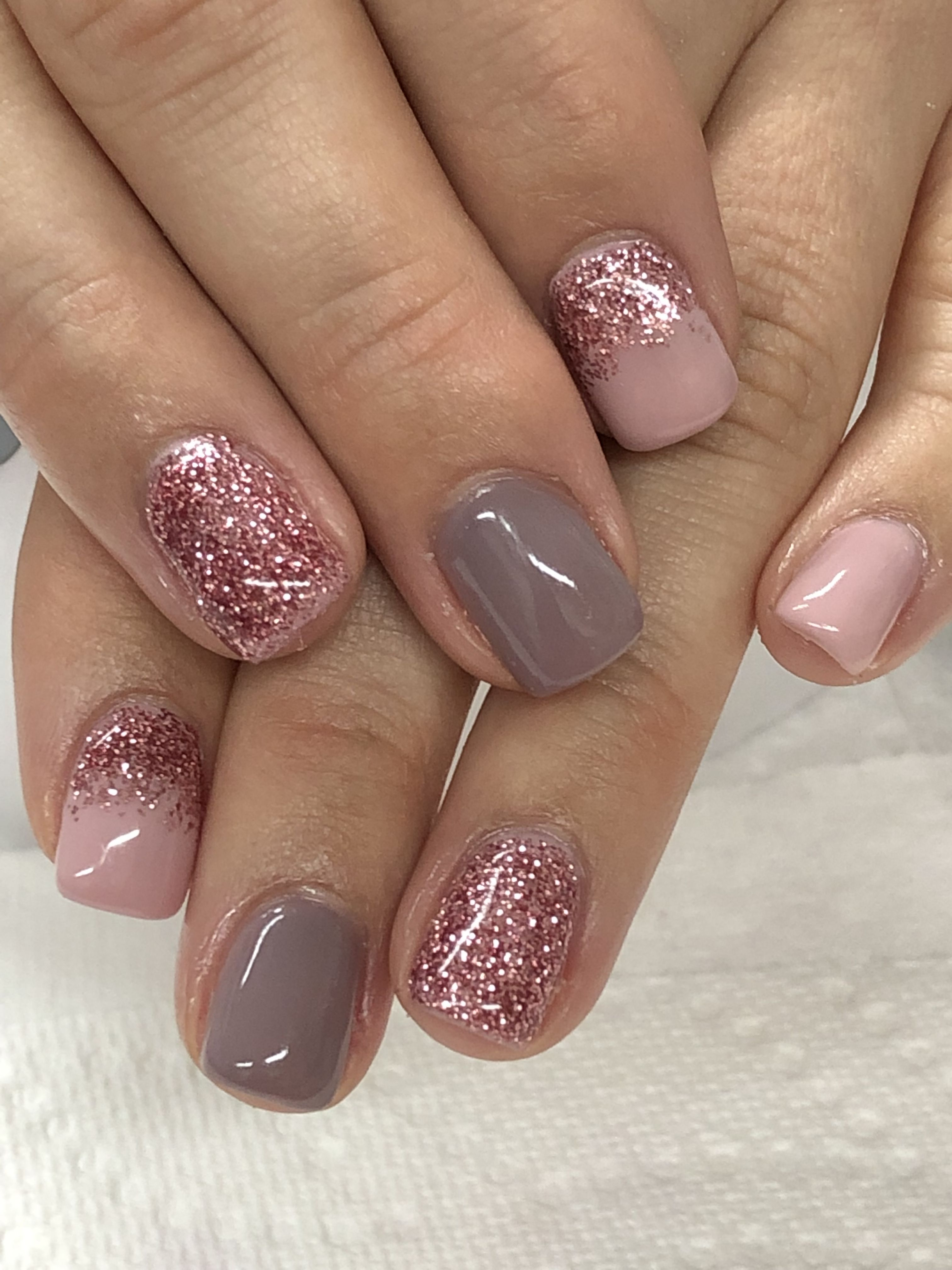 Pale Pink Taupe Neutral Gel Nails With Images Gel Nail