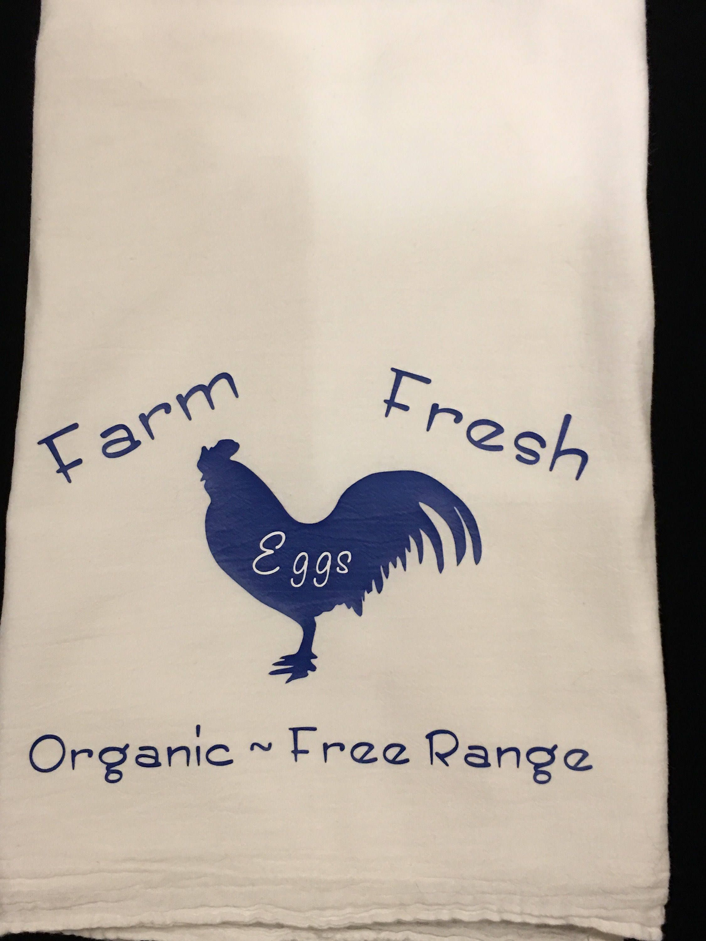 Farm Eggs, Flour Sack Towel, Kitchen Towel, Funny Towel, House ...