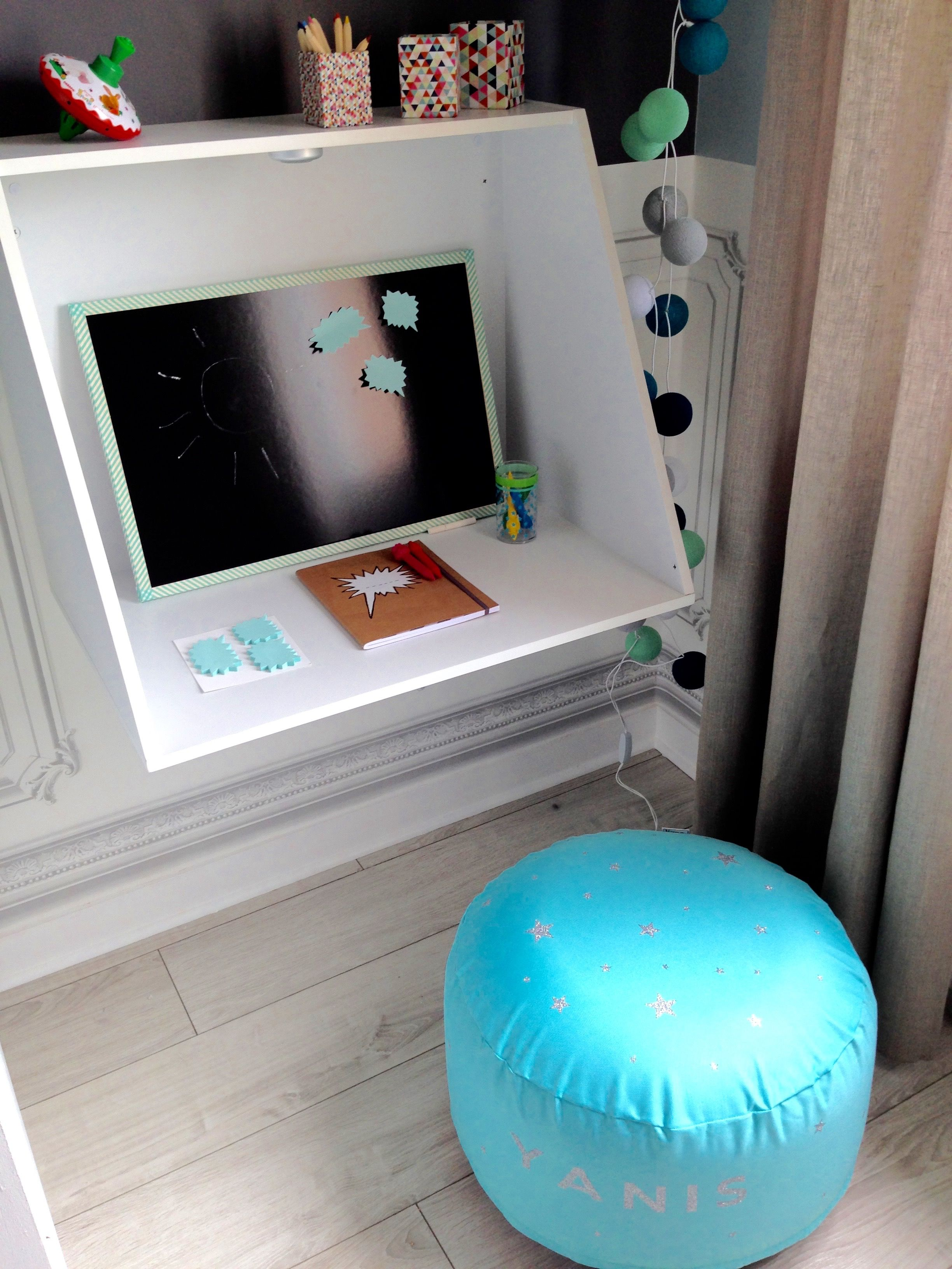 tuto transformation d 39 une commode en bureau suspendu l 39 atelier d co france 2 appart. Black Bedroom Furniture Sets. Home Design Ideas