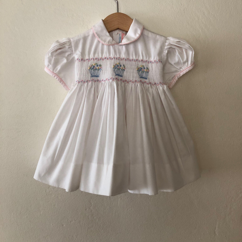 Vintage Baby Girls Dress Vintage Girls Dress Vintage Baby Easter Dress Vintage Girls Easter Dress Size 12 Months Vintage Girls Dresses Girls Easter Dresses Vintage Toddler Dress