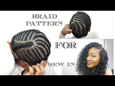 UPDATED Braiding Pattern For A Side Part With Leave Out YouTube Adorable Sew In Weave Braid Patterns