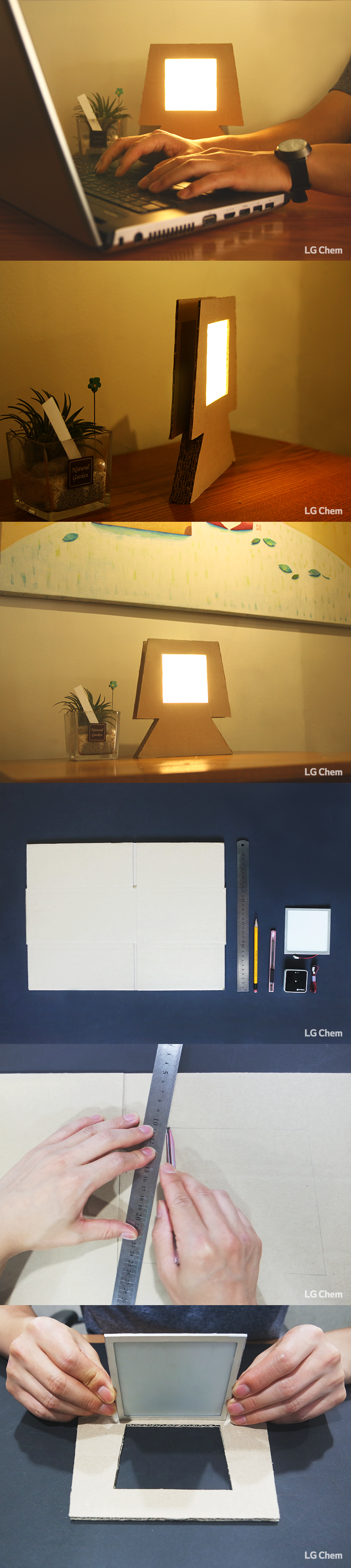 A lamp made with a cardboard box and an oled diy kit check out a lamp made with a cardboard box and an oled diy kit check out organic solutioingenieria Gallery