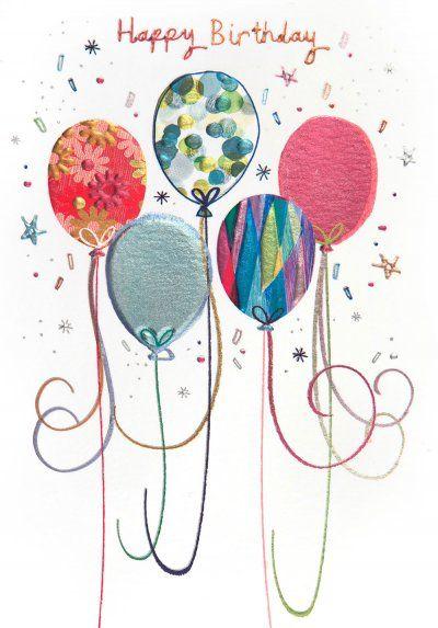 Birthday card - 'Birthday Balloons'