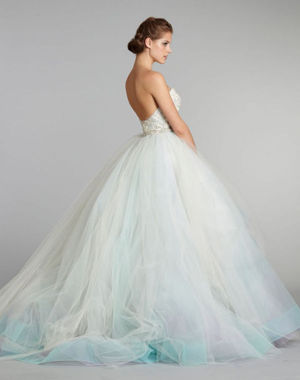 30 Head Over Heels Romantic Watercolor Wedding Gowns Ombre