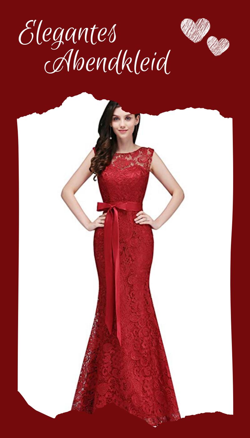 elegantes abendkleid aus spitze in verschiedenen farben