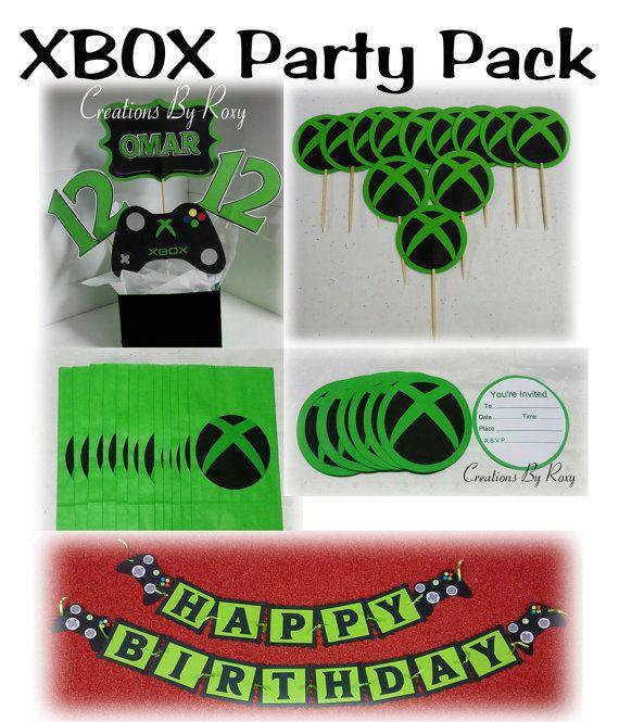 Pack Fiesta Xbox Cunpleanos En 2019 Xbox Party Party Packs Y