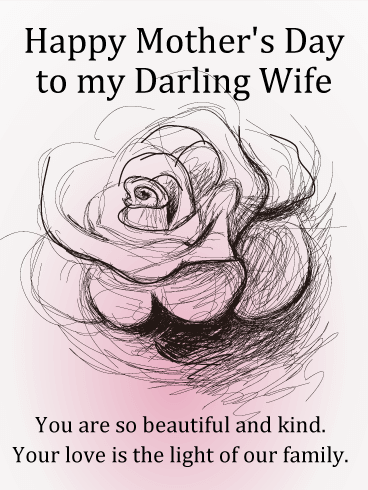 to my darling wife happy mother s day card once a mother always