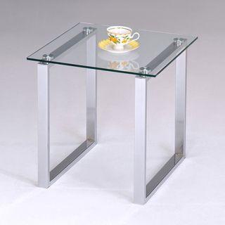 Marvelous Ku0026B Glass And Chrome End Table