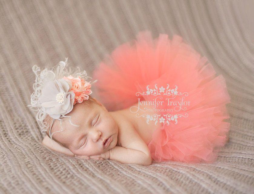 Newborn Tutu And Headband Set Coral Tutu Baby Tutu