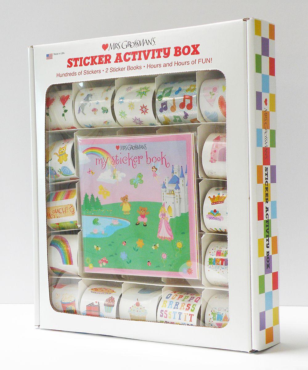 Mrs Grossmans Pink Sticker Activity Box Set Zulily Arias Books My Pretty