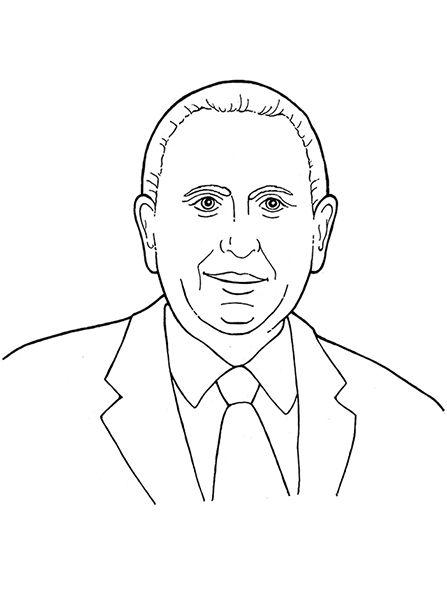 An illustration of our latter-day prophet, Thomas S. Monson. Line ...