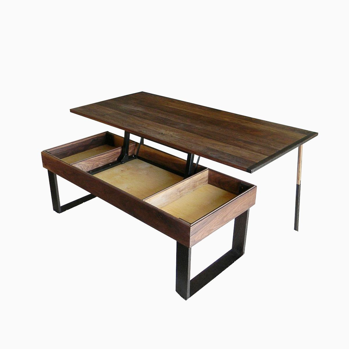 Terrys Lift Top Pop Up Walnut And Wenge Transformer Coffee Table