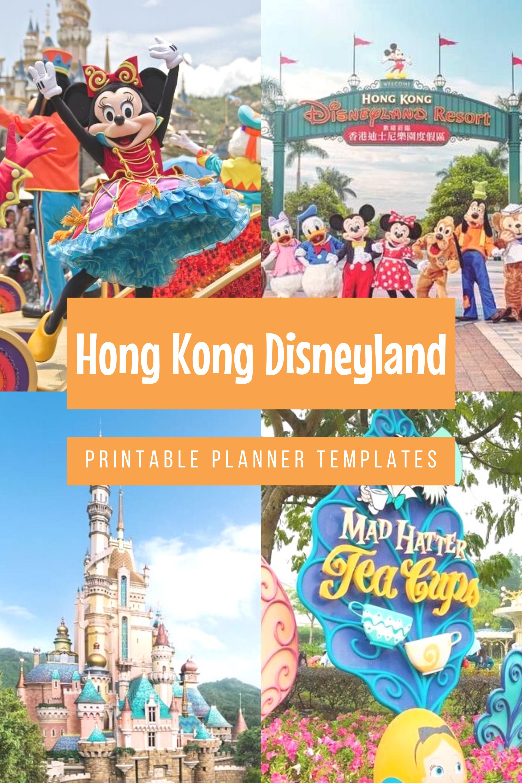 Hong Kong Disneyland Printable Planner Templates Disney Vacation Planning Guide Hong Kon In 2021 Disney Vacation Planner Disneyland Vacation Planner Disney Vacations