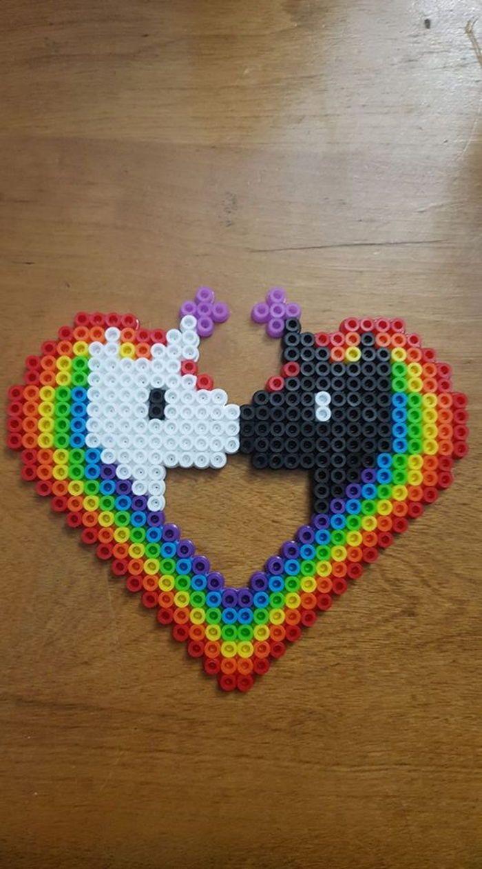 Unicorn Love Perler 美勞 Bugelperlen Einhorn Steckperlen