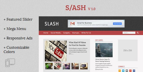 Slash - Tech/Magazine Blogger Template - Blogger Blogging | temlates ...