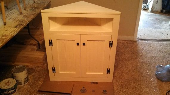Genial Short Corner Cabinet By Alabamapine On Etsy