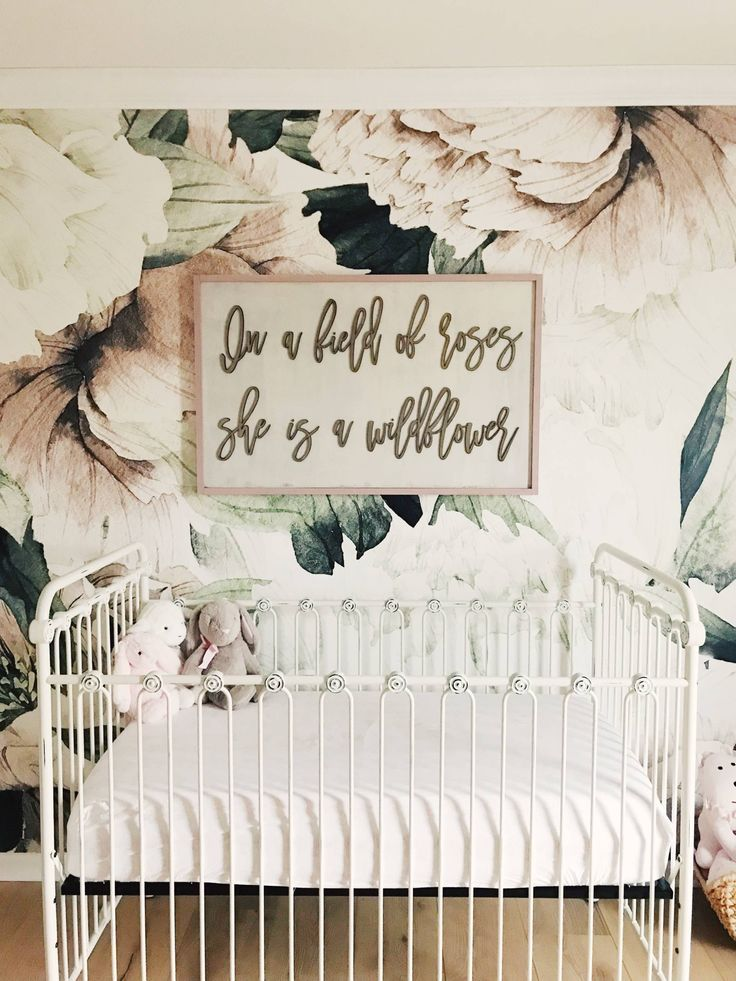 Floral Wallpaper Nursery The Most Gorgeous Floral Wallpaper For A Baby Girl The Pink Dream Girl Nursery Nursery Signs Baby Girl Room