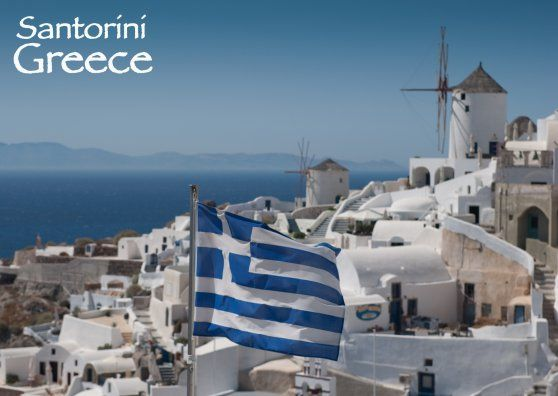 Afbeeldingsresultaat voor Santorini postcard