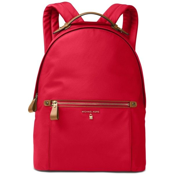 dada48b4611f Michael Michael Kors Kelsey Large Backpack ($178) ❤ liked on Polyvore  featuring bags, backpacks, bright red, strap bag, knapsack bag, day pack  backpack, ...