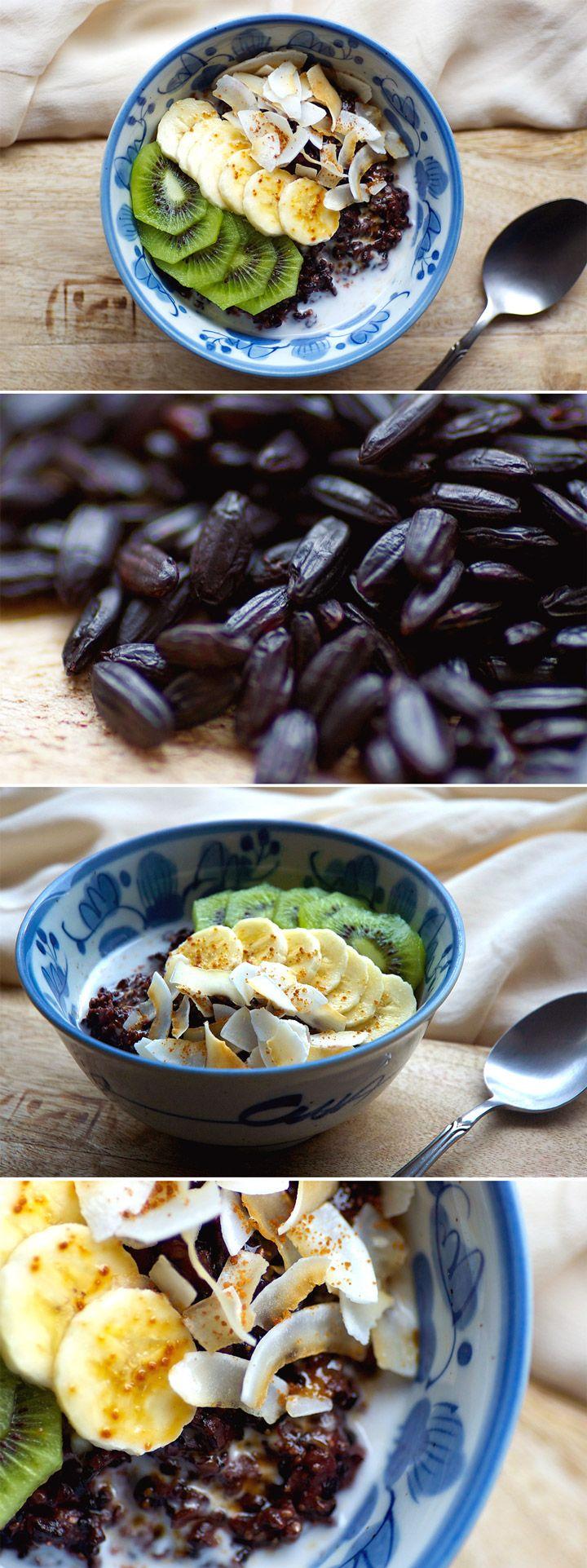 Black Rice and Chia Pudding | Food recipes, Food, Whole ...