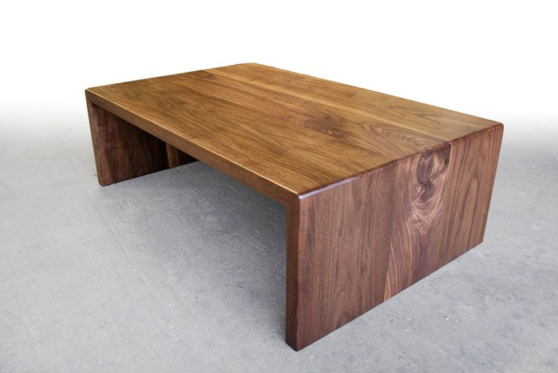 Walnut Waterfall Coffee Table Coffee Table Wood Coffee Table Table