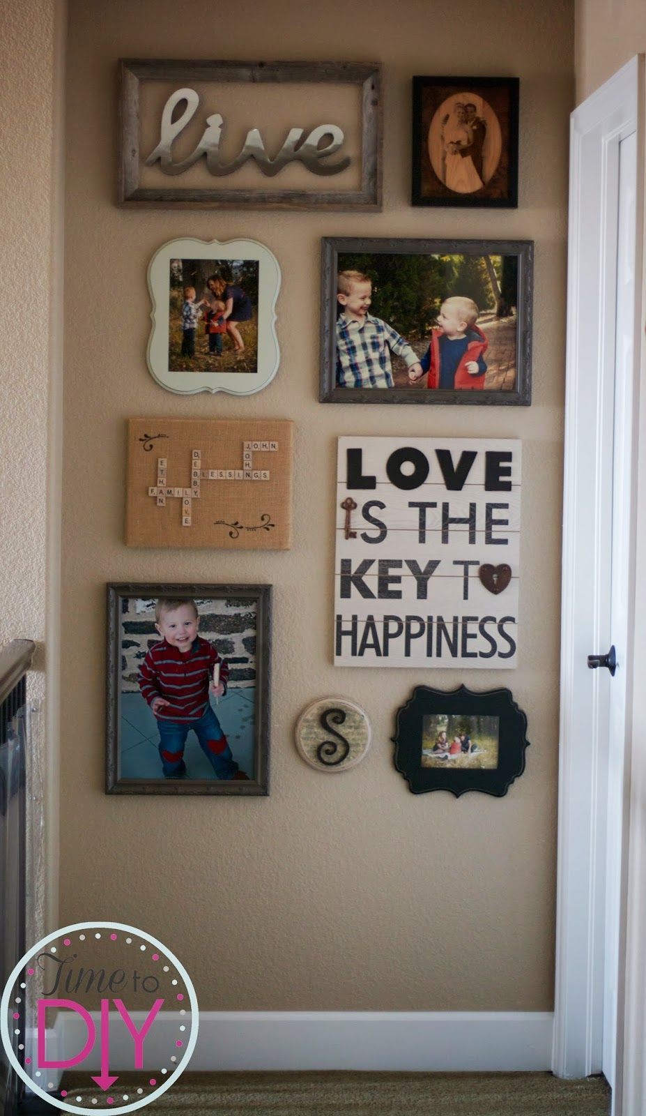 Time To Diy The Love Gallery Wall Foyer Decorating Decor Wall Collage