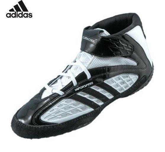 107 Adidas Vapor Speed Wrestling Shoes White Black Black