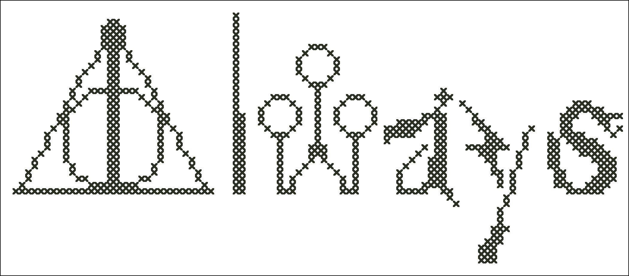 BOGO FREE Harry Potter Logo original pattern Harry Potter