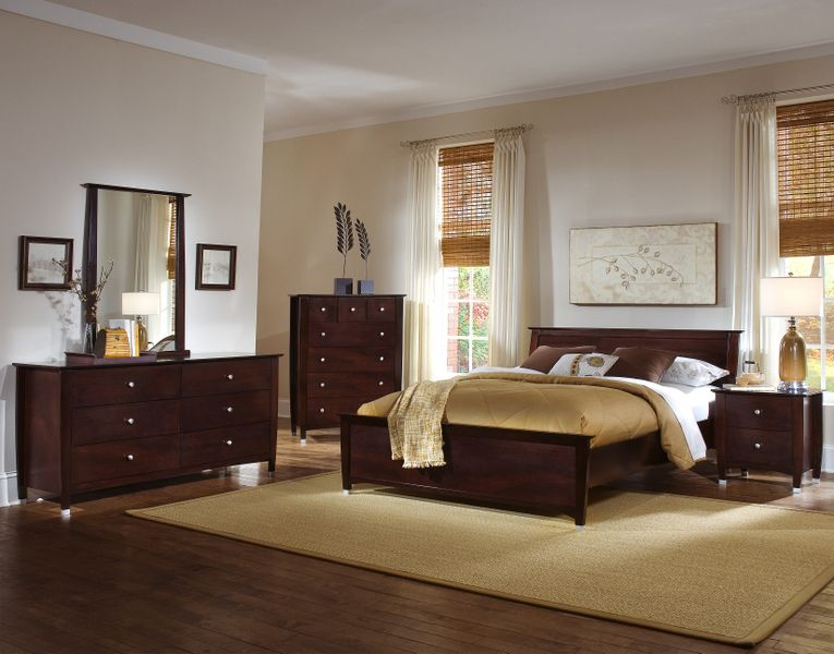 Elements Bedroom Set - Espresso, Boston Interiors, Dresser & Bed ...