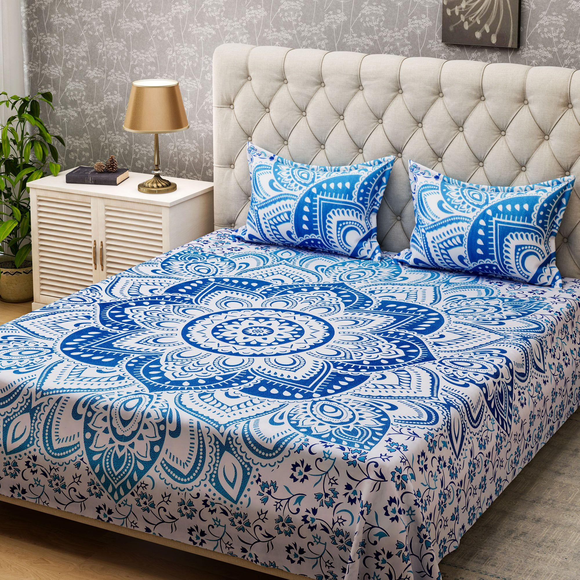 and midnight pin boho moon sets bedding duvet blue covers stars sun