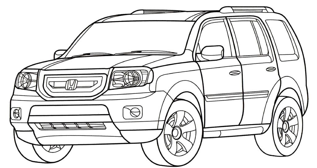 Honda Coloring Pages Download And Print For Free Kendaraan